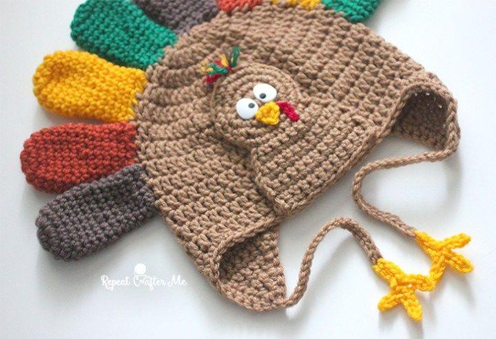 Crochet Turkey Hat Pattern Hats 3 Pinterest Turkey Hat