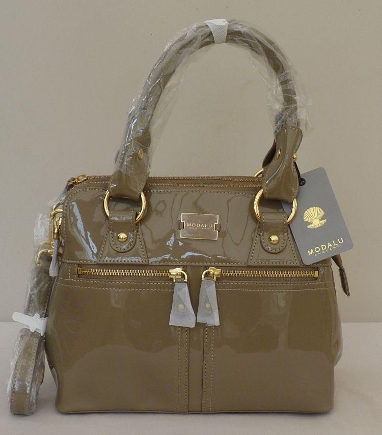 04955dbfb0 Modalu Mink Patent Mini Pippa Hand Grab Bag -   Pippa  - NEW
