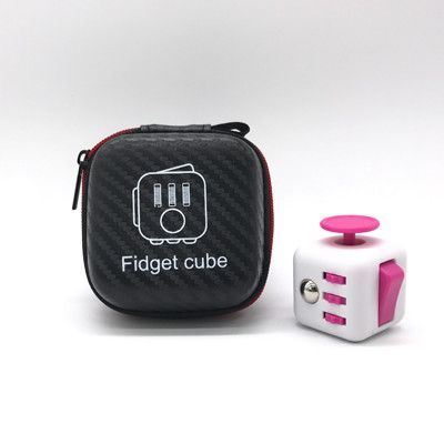 Sellworlder High Quality 1pcs Fidget Cube Original With Zipper Case Puzzles Magic Toys For Birthday Gift With Clickable Ball Fidget Cube Zipper Bags Cube Toy