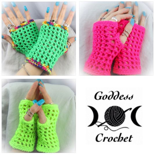 "Madonna"" Inspired Wristers – Free Crochet Pattern"