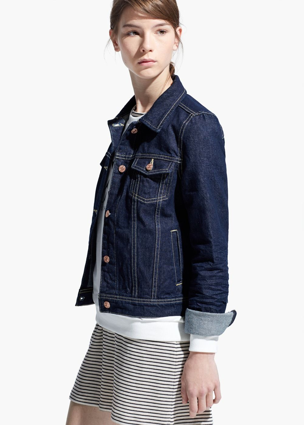 Dark denim jacket | Dark denim, Jackets and Denim jackets