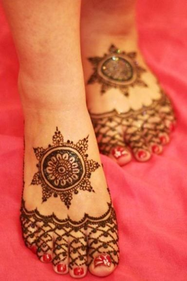New Feet Mehndi Designs