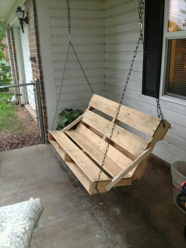 40 diy pallet swing ideas pallets swings and porch for How to make a pallet porch swing