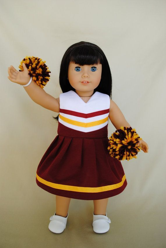 Deep Red and Gold Cheerleader/Cheer Dress for American Girl/18 inch doll #18inchcheerleaderclothes Deep Red and Gold Cheerleader Dress for by IfDollsCouldDream, $18.00 #18inchcheerleaderclothes Deep Red and Gold Cheerleader/Cheer Dress for American Girl/18 inch doll #18inchcheerleaderclothes Deep Red and Gold Cheerleader Dress for by IfDollsCouldDream, $18.00 #18inchcheerleaderclothes