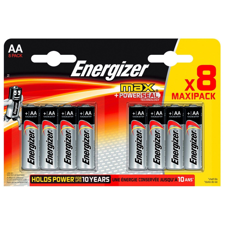 Lot De 8 Piles Alcaline Lr06 Aa 1 5 V 1 5 V 2500 Mah Energizer Pile Alcaline