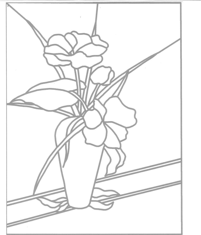 Flores en florero patrón