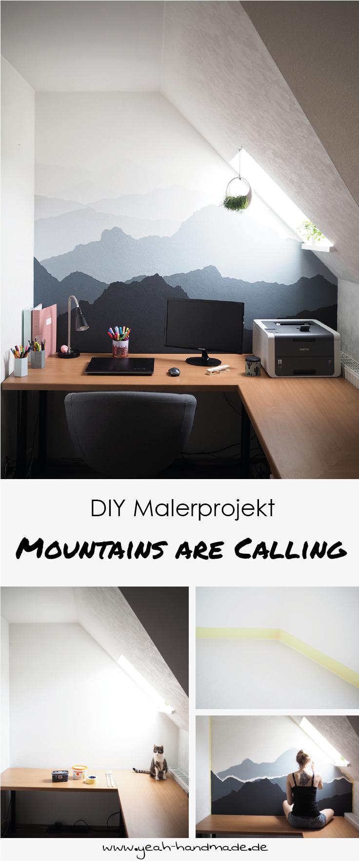 diy malerprojekt mountains are calling diy deko wohnen pinterest wohnen haus und. Black Bedroom Furniture Sets. Home Design Ideas