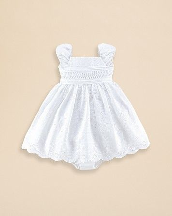3950565a Ralph Lauren Childrenswear Infant Girls' Cotton Eyelet Dress - Sizes ...