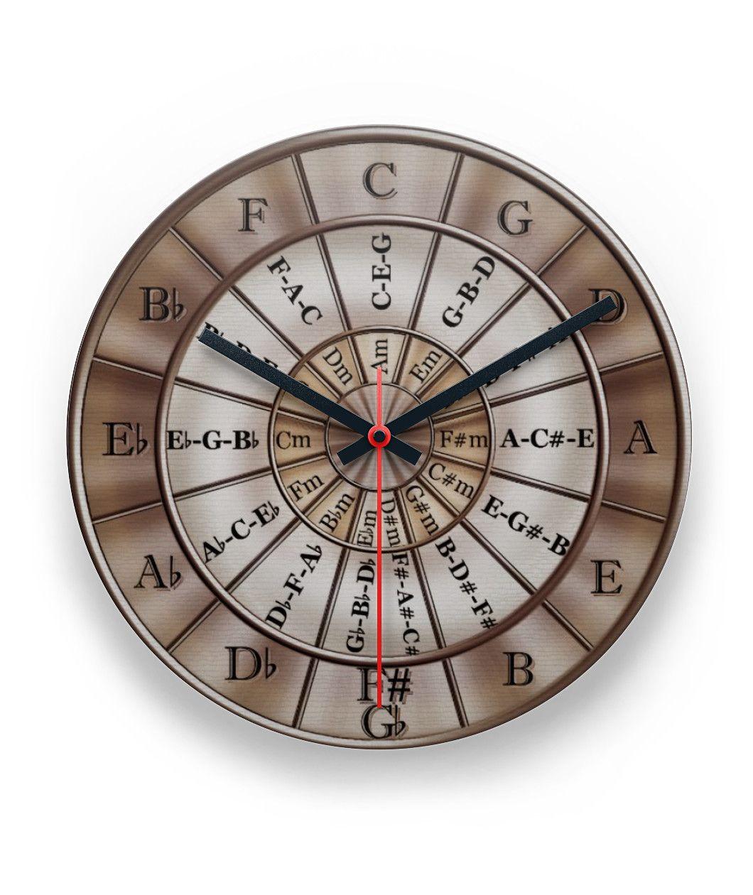 Circle Of Fifths Wall Clock Steve