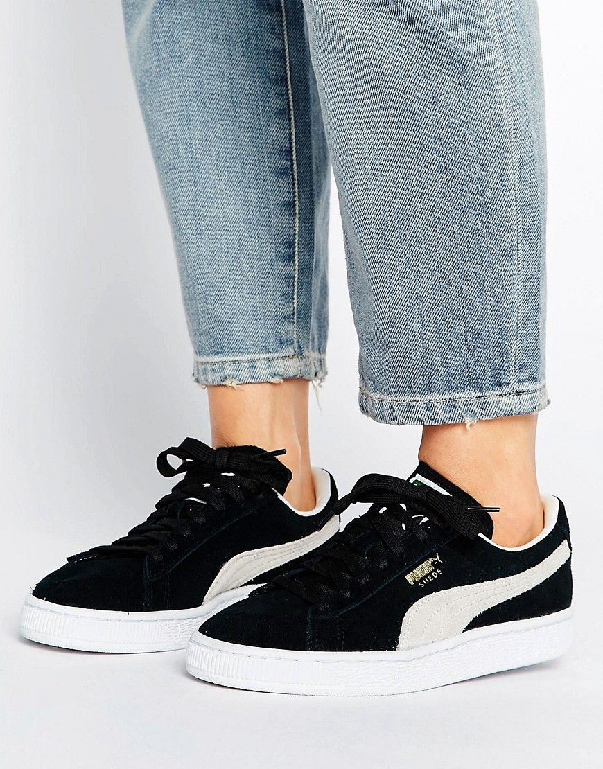 0d2e3ab2093 PUMA SUEDE CLASSIC SNEAKERS IN BLACK - BLACK. #puma #shoes # | Puma ...
