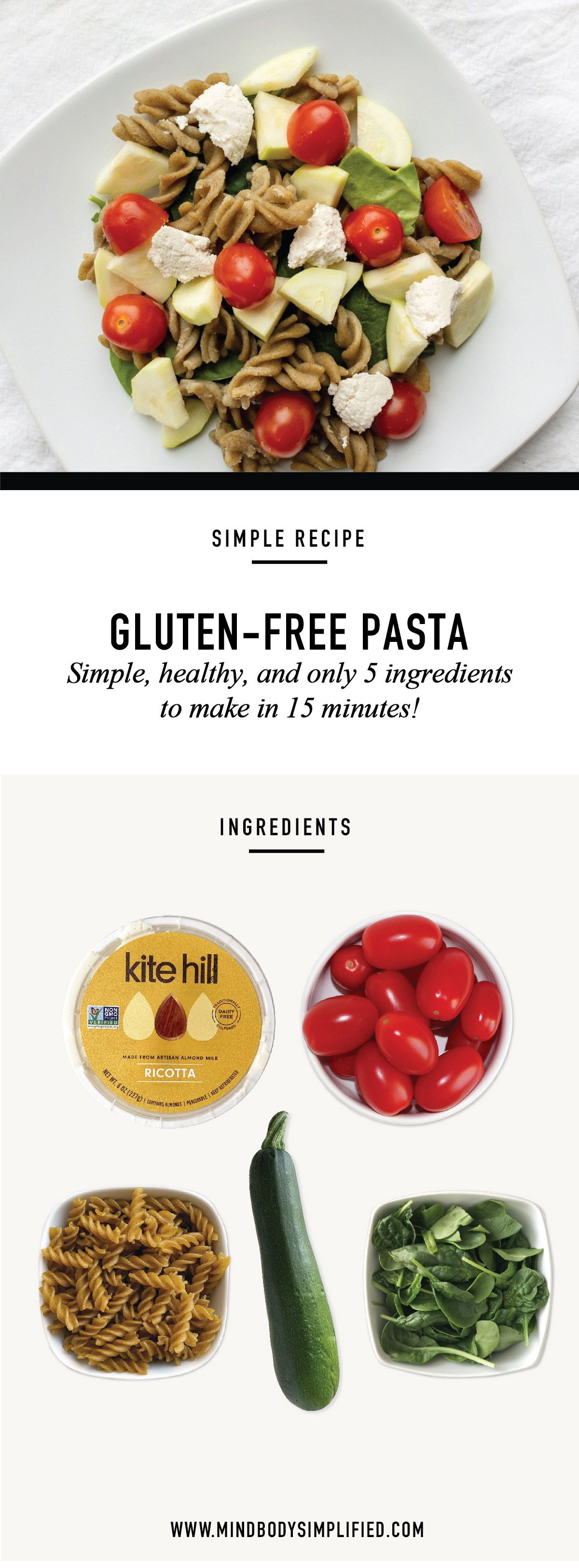 Glutenfree pasta a fast healthy 5 ingredient meal that