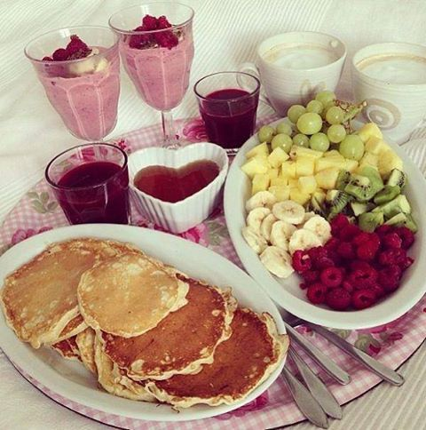 The Honeymoon: Breakfast in bed together ;)