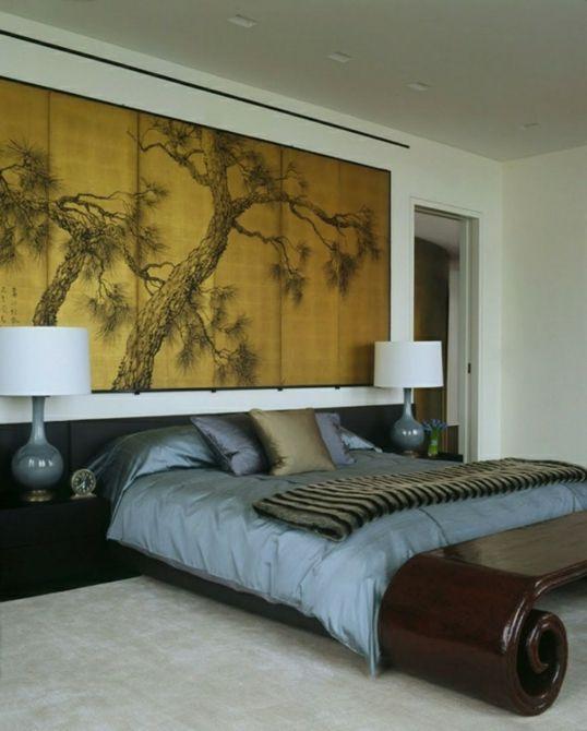 Wanddeko Schlafzimmer Doppelbett Schlafzimmer einrichten