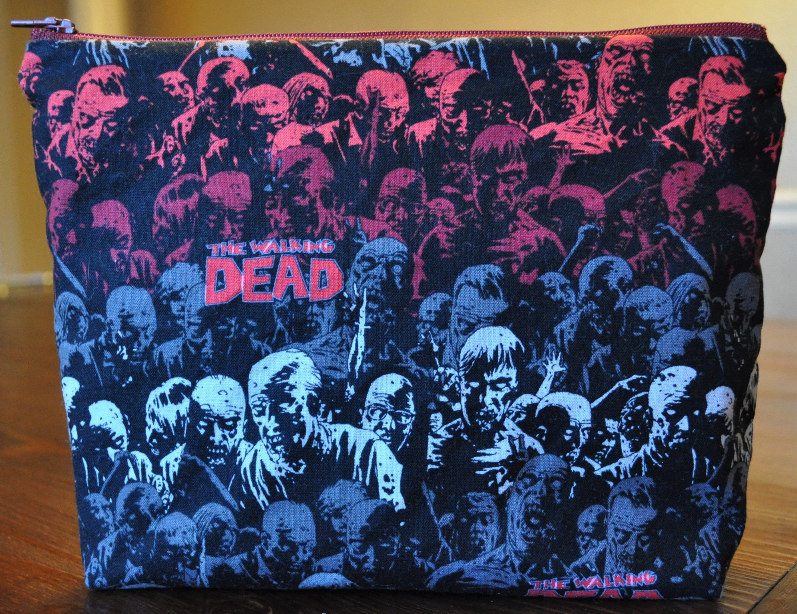 The Walking Dead and Tiny Red Dots bag. Each bag is one of