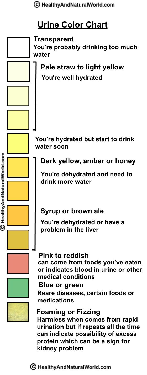 Why is urine yellow
