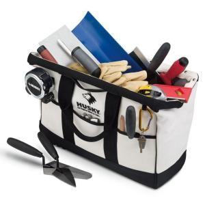 Husky 20 In Canvas Mason S Bag Discontinued 82982 1n09 At The Home Depot Home Depot Mason Carpenter Bag