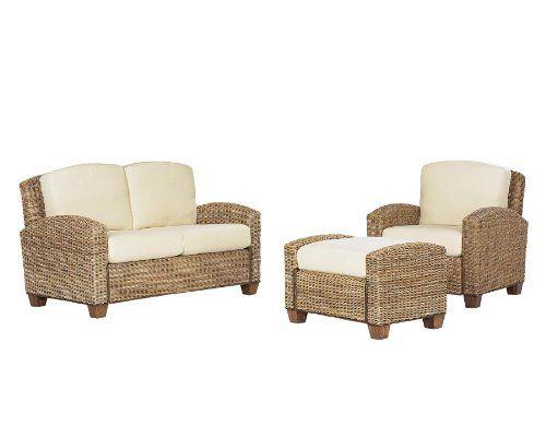 Merveilleux Home Styles 5401 200 Cabana Banana Chair, Ottoman And Love Seat, Honey  Finish
