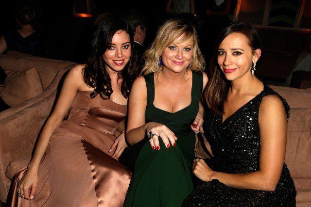 My three favorite gals:Rashida Jones, Amy Poehler and Aubrey Plaza