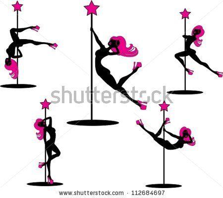 Glamorous Pole Dancers The Vector Illustration Of Several Pole Dancers Silhouettes Dancer Silhouette Pole Dancing Dancer