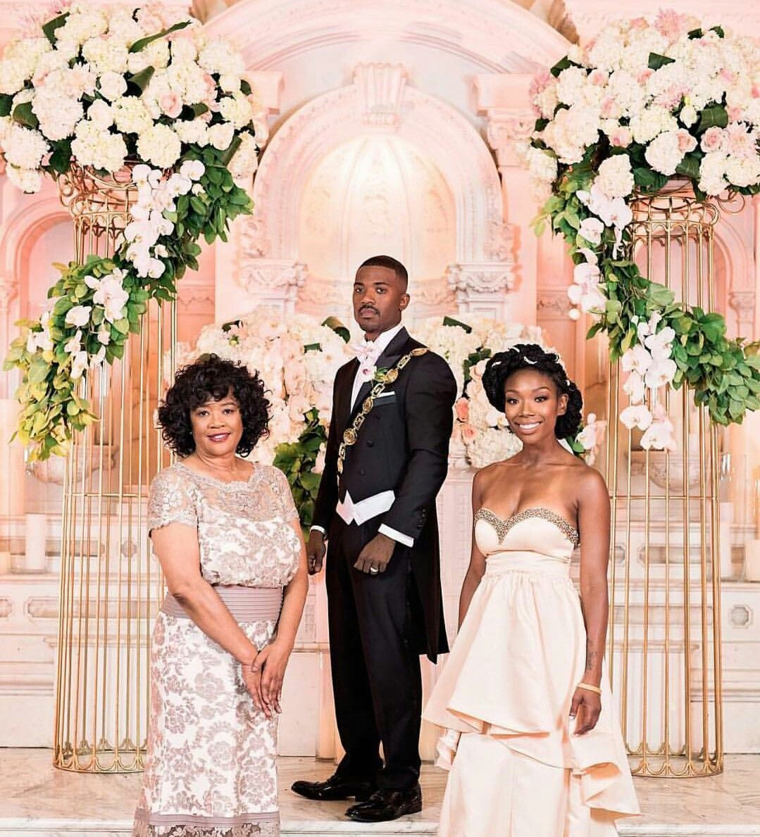 Wedding Photo ¤ Ray J., Along With His Mother Sonja