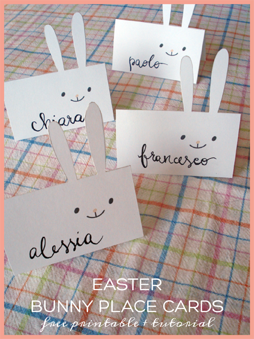 easter name tags template - easter party mini kit bunny place cards free printable