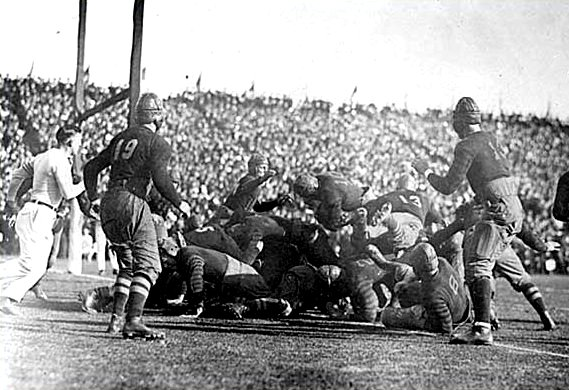 1920 Rose Bowl, Harvard's touchdown to beat Oregon | American ...