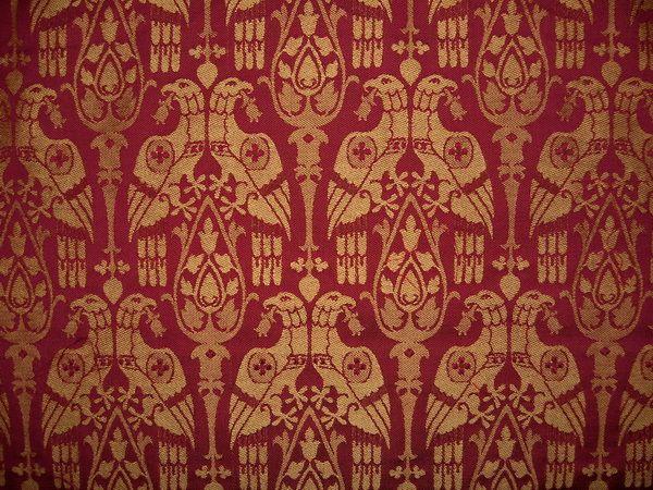 Mittelalterstoff Brokat Damast Wandteppich Damast Polsterstoffe