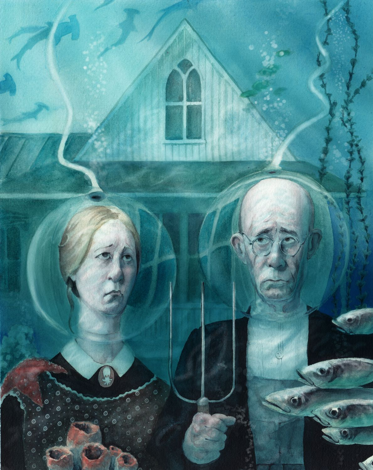 10 Remakes Of Grant Woods American Gothic