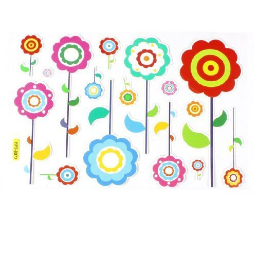 """Amico Home Wall Decor Colorful Flowers Design Paper Foam Sticker Decal by Amico. $3.84. Weight : 28g. Material : Paper, Foam;Color : Multicolor. Product Name : Sticker Decal;Sticker Design : Flowers. Package Content : 1 x Sticker Decal. Flower Dimensions (Max.) : 8.8 x 20cm/ 3.5"""" x 7.9"""" (W*H). Paper and foam made Sticker Decal with Flower shape, a good decor for windows, wall, car auto, etc. With the adhesive on the back, you can stick it to the side of any other smo..."""