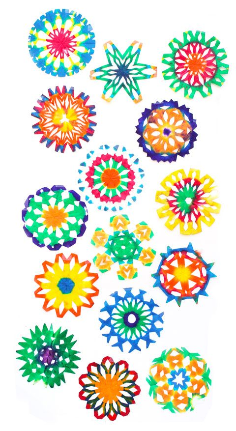 Snowflake Craft Ideas For Kids Part - 49: Coffee Filter Snowflake Craft
