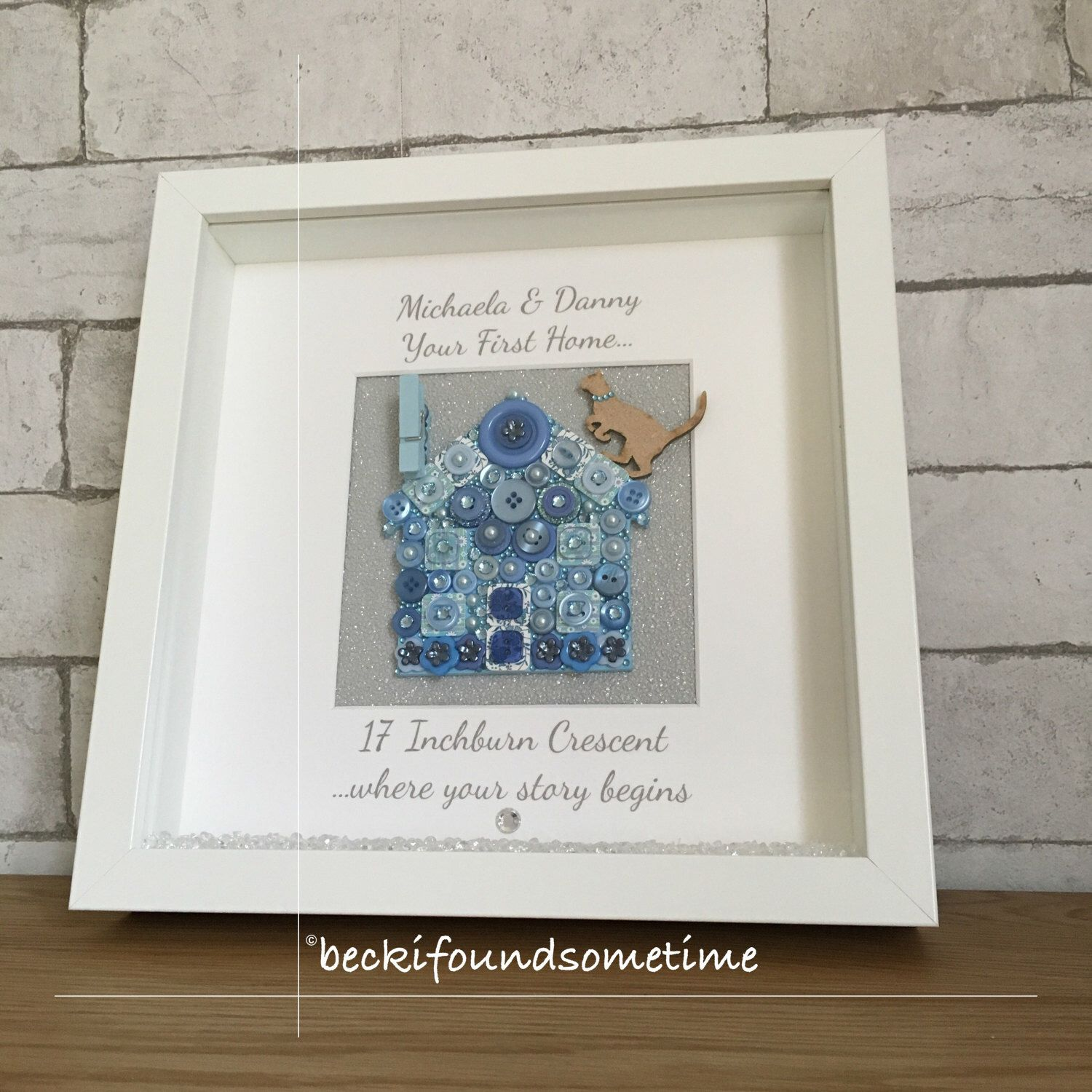 Personalised New Home Gift Housewarming House Frame, Customised ...
