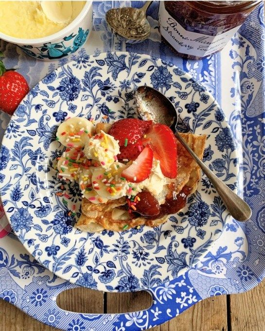 Strawberries and Cream Pancake Party Platter - Lavender and Lovage