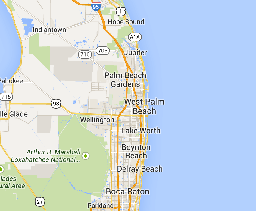a3568339c963036453732d50db61d719 - Map Of Florida Showing Palm Beach Gardens