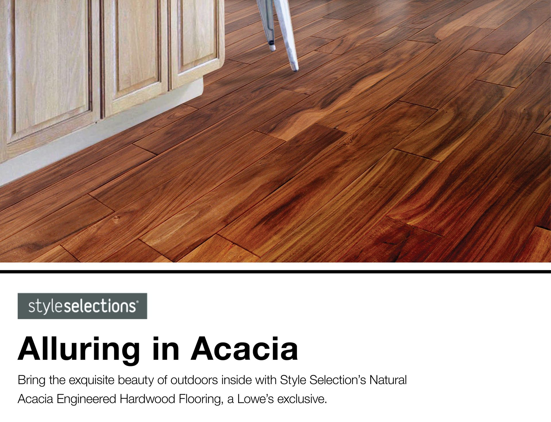 Allen Roth 5 In Natural Acacia