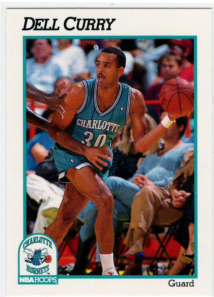 Basketball Trading Cards 1991 NBA Hoops Dell Curry