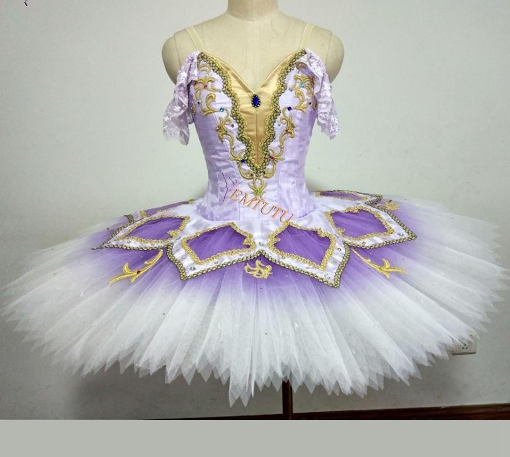 Adult Professional Ballet Tutu Costume Sleeping Beauty Lilac Fairy Classic Tutu
