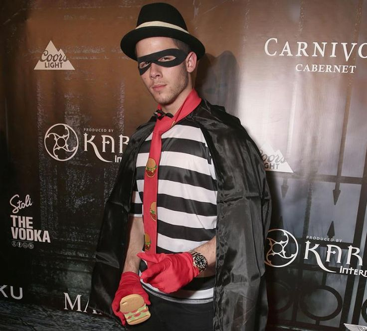 Cool Halloween idea! Nick Jonas making Hamburglar look cool in this - cool halloween ideas