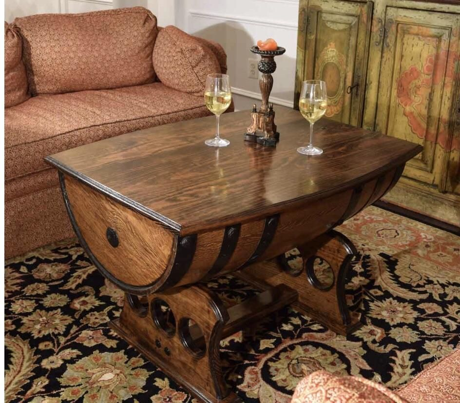 Reclaimed Whiskey Barrel Table In 2019