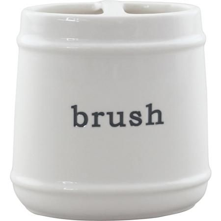better homes and gardens words toothbrush holder white walmartcom - Better Homes And Garden Bathroom Accessories