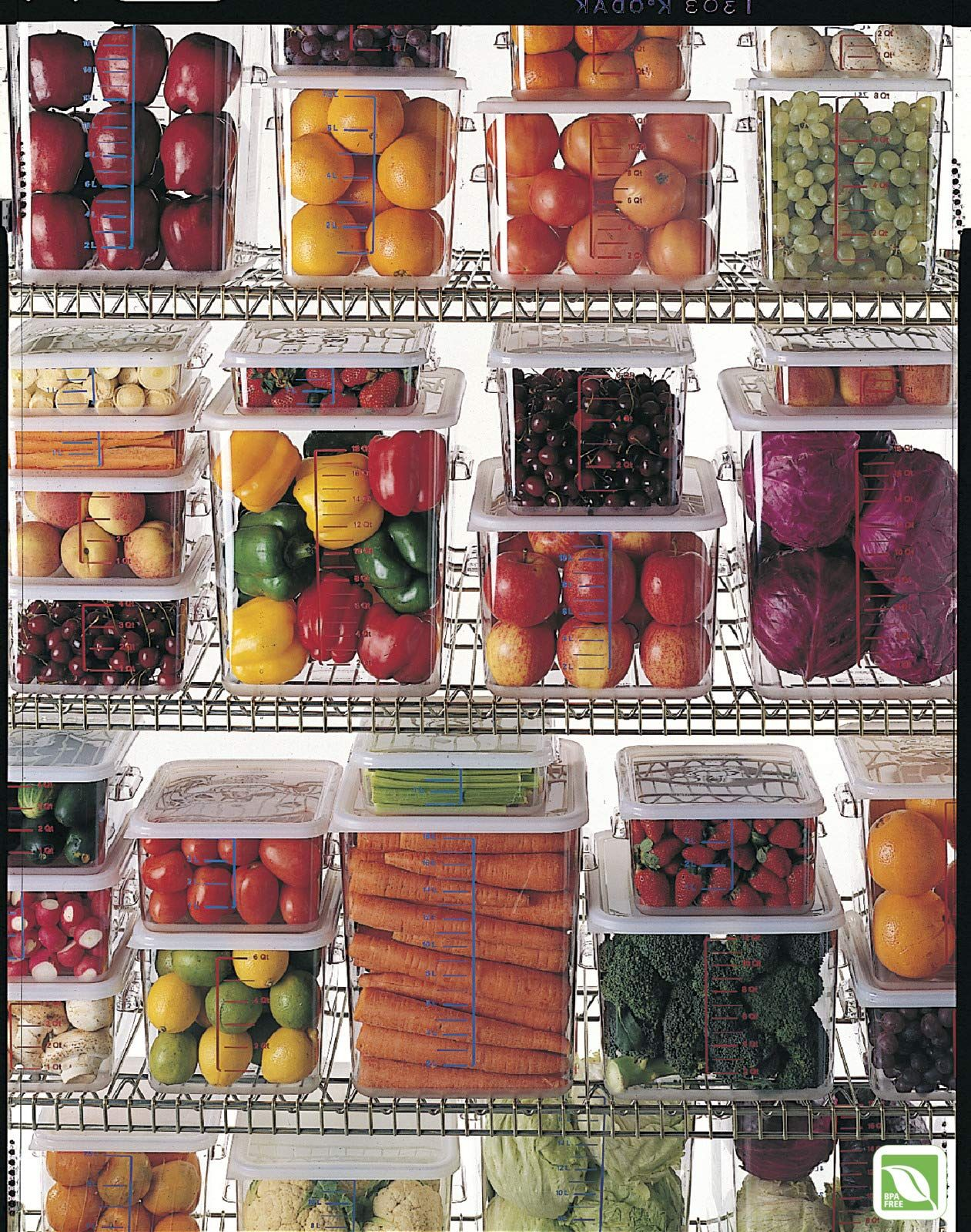 Rubbermaid Commercial Products Plastic Space Saving Square Food
