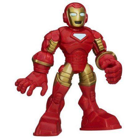 Playskool Heroes Marvel Super Hero Adventures Iron Man Figure Multi-Colored, Multicolor