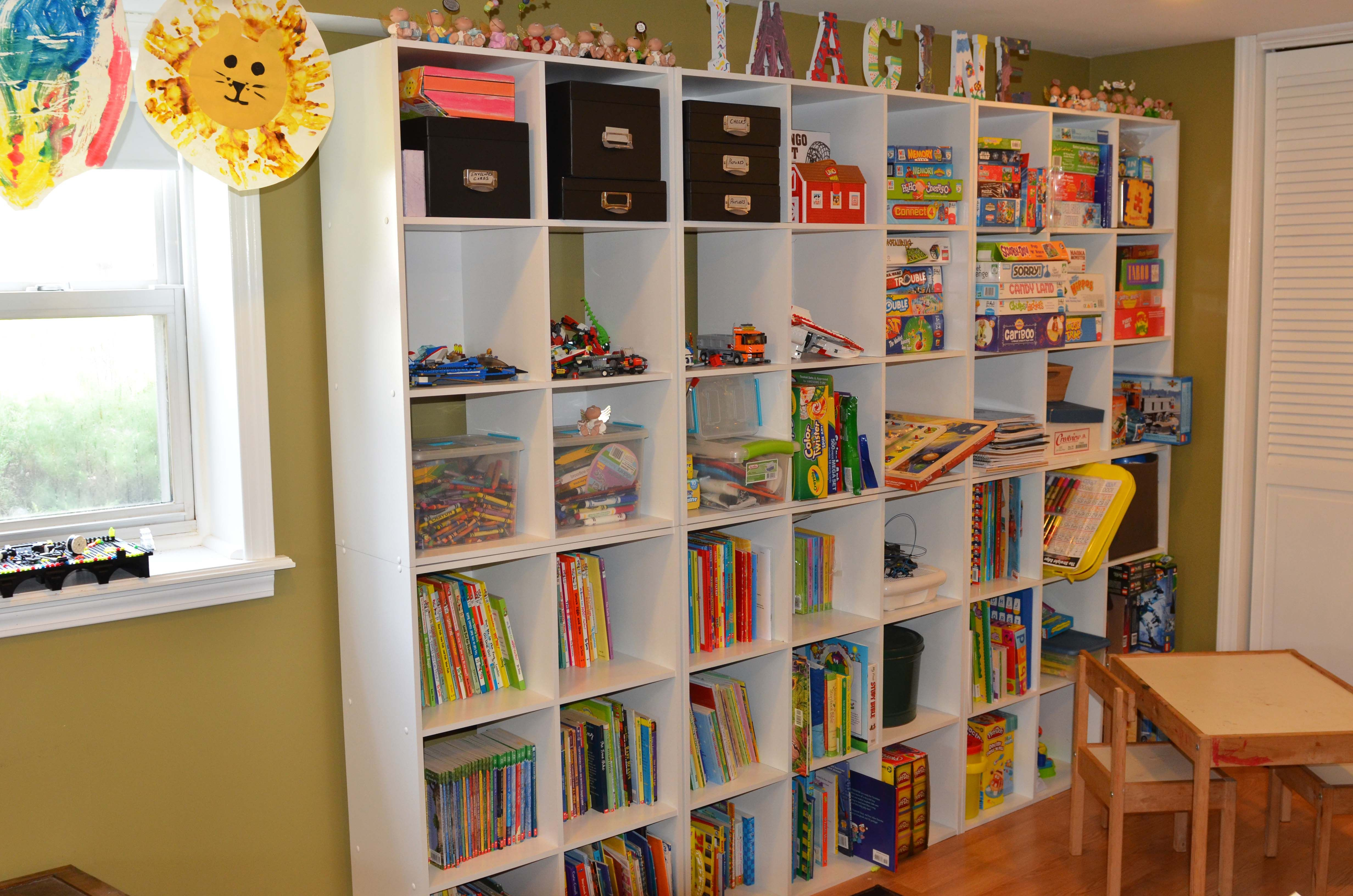 If you have a game room or recreation area in your home, it's important to have good lighting. Andrew and Riley's book, art supplies, and game storage ...