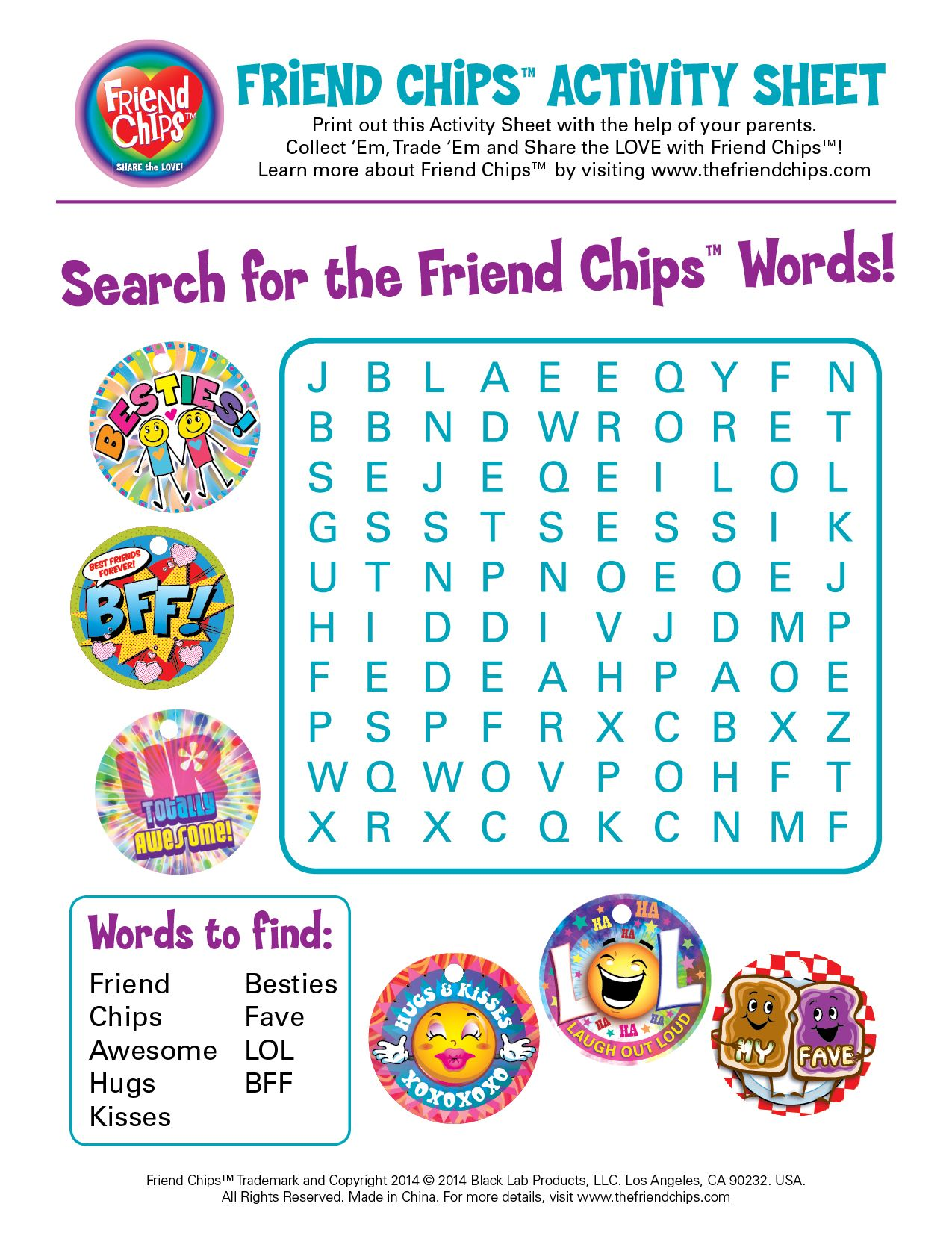 Share The Love With Friend Chips Printables Search For The Friend Chips Words Friendchips