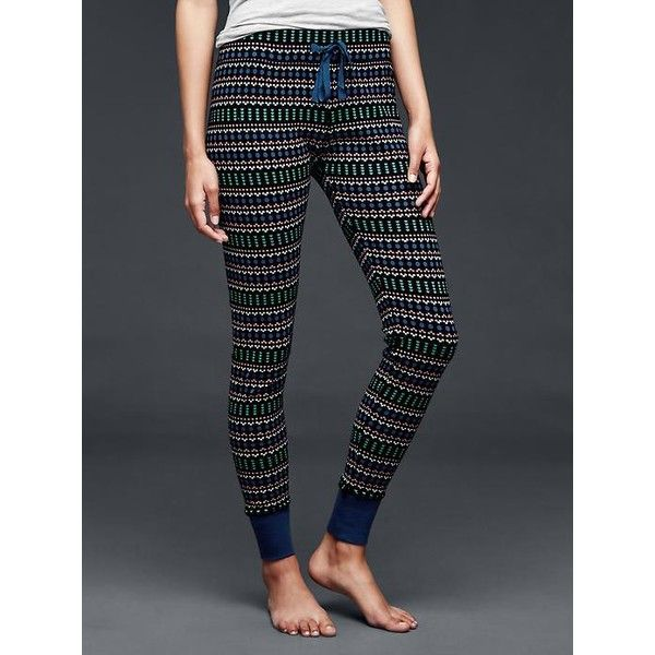 Gap Women Printed Cotton Leggings featuring polyvore, fashion ...