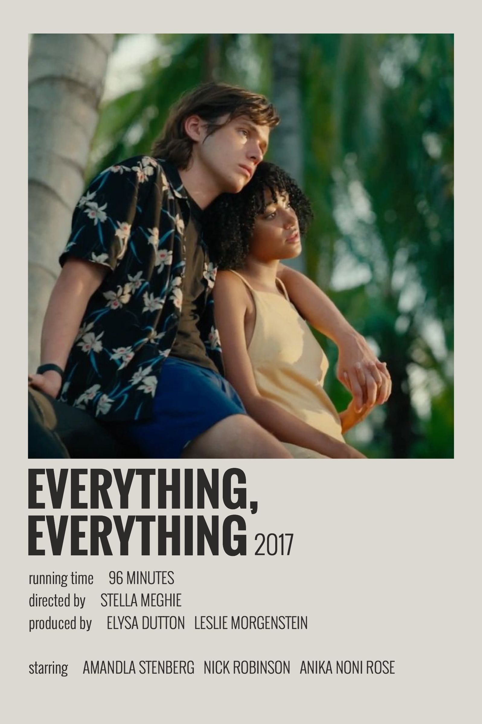 Alternative Minimalist Movie Show Polaroid Poster Everything Everything In 2020 Film Posters Minimalist Movie Poster Wall Indie Movie Posters
