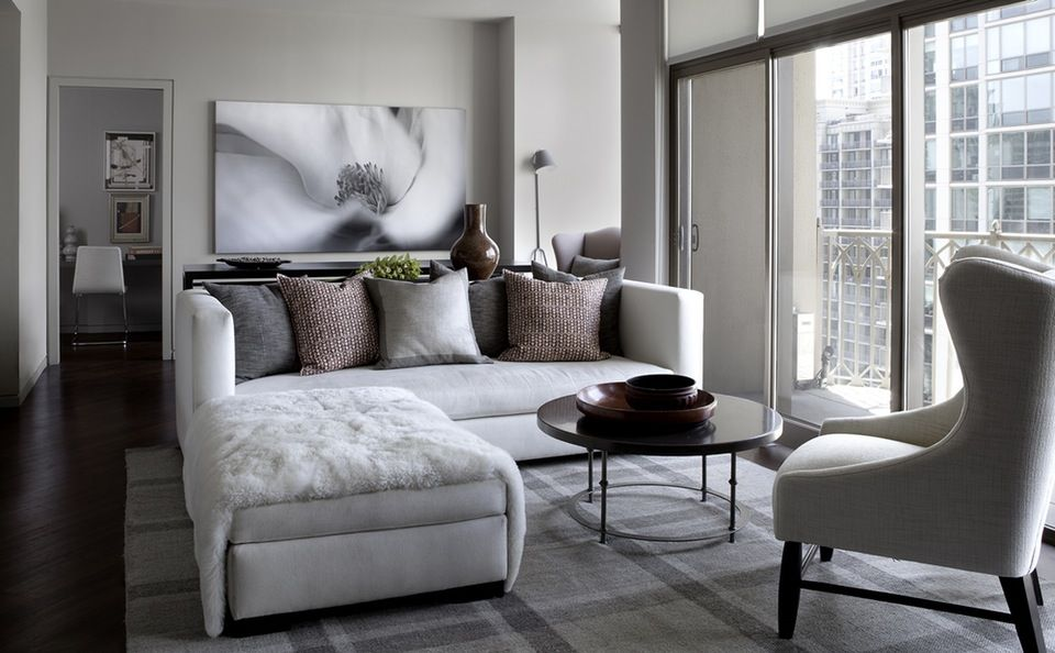 Condo Living Room Interior Design Interesting 35 Chic Gray & Neutral Living Spaces  Living Room Interior Room Inspiration Design