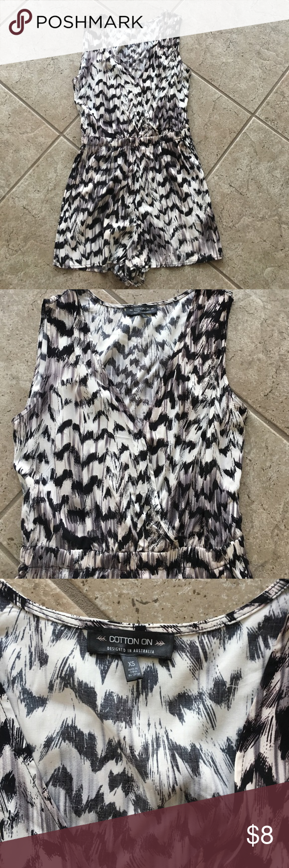 Cotton On Printed Romper Good Condition/Previously Worn Cotton On Pants Jumpsuits & Rompers