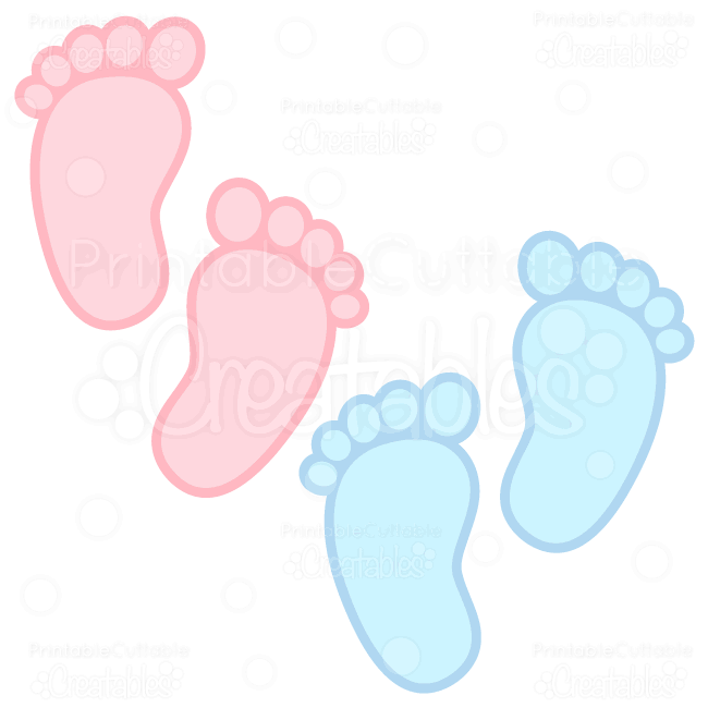 baby footprints free svg cuts clipart labels pinterest svg