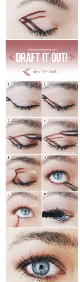 With brown soft tip liner