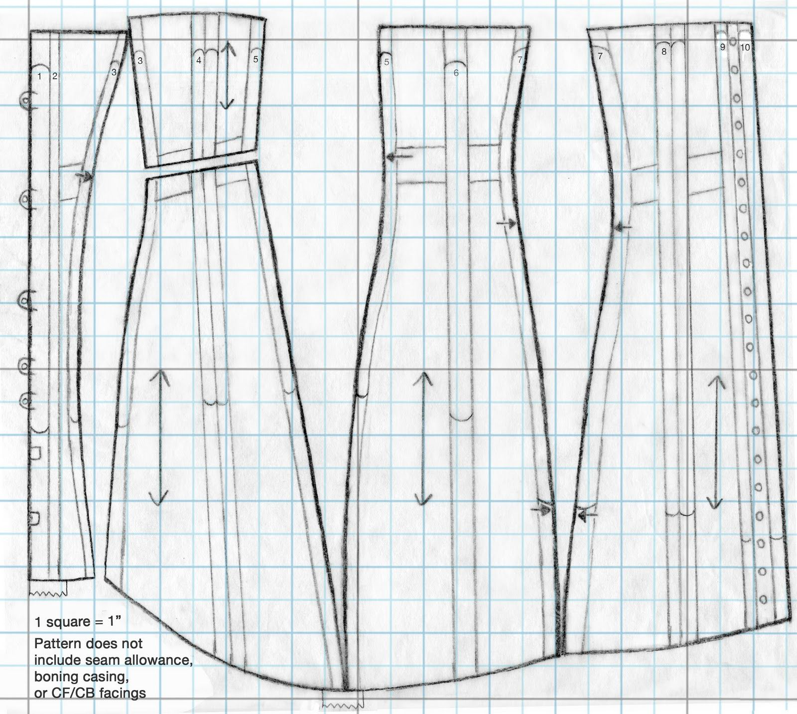 Festive Attyre: 1910\'s corset pattern and instructions | Craft Ideas ...